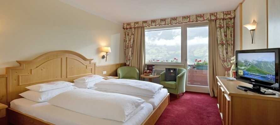 Här erbjuds ni en bekväm bas i fina rum för en härlig vintersemester i Österrike.