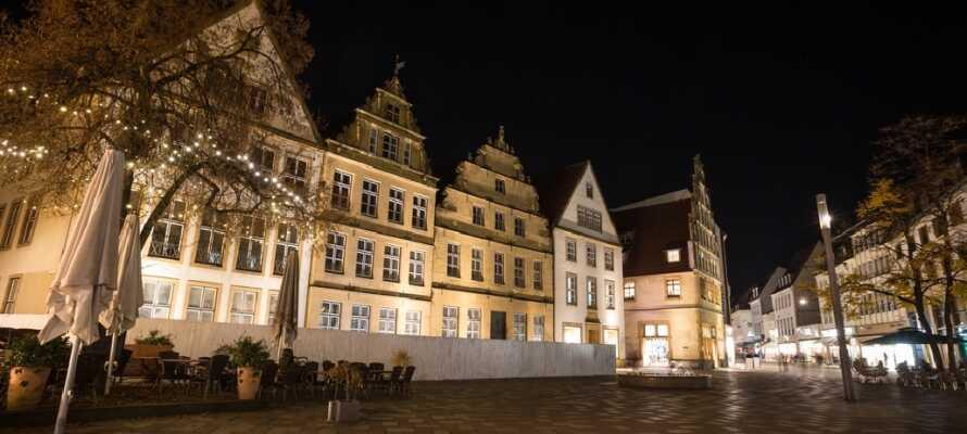 Bielefeld er også en af de største byer i det østlige Nordrhein-Westfalen. Husk at besøge den chamerende gamle bydel.