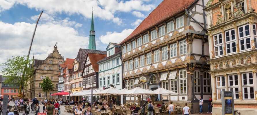 Omgivet af bløde bakker i Weserbergland ligger den lille by Hameln, også kendt fra sagnet om Rottefængeren fra Hameln.