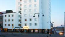 Hotellet ligger centralt i Nässjö.