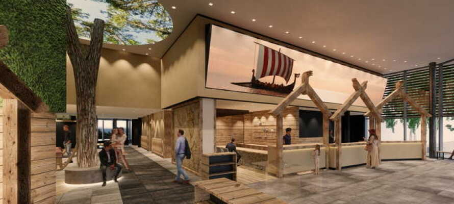 De nyrenoveret værelser ligger i bygningen, som hedder Ostseehotel Midgard og præges alle af et herligt vikingetema.