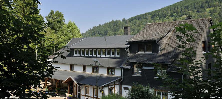 Landhaus Baumwipfel har en smuk placering i det sauerlandske højland.