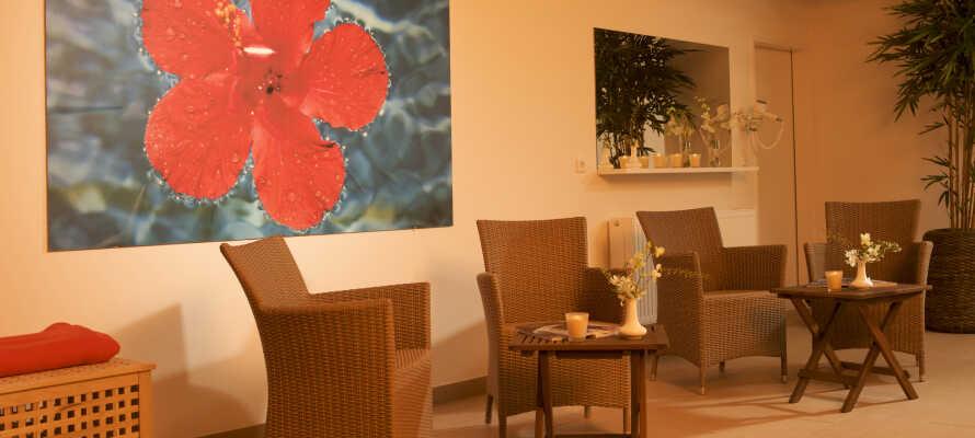 Passa på att koppla av i hotellets spa-avdelning och relax-område under er vistelse.