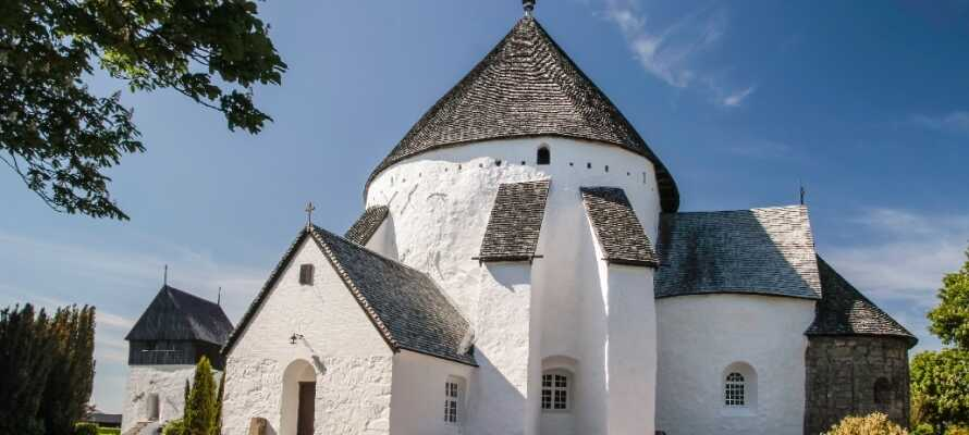 Bornholm er kjent for sine runde kirker, og denne er den største og kanskje den eldste av de fire.