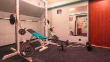 Hotellets treningsrom og badstue