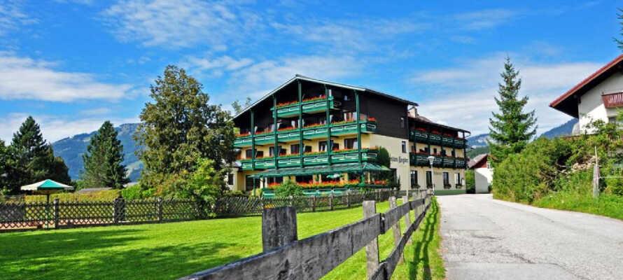Hotel Kogler er et skønt østrigsk familiehotel med en fantastisk beliggenhed i Bad Mitterndorf.