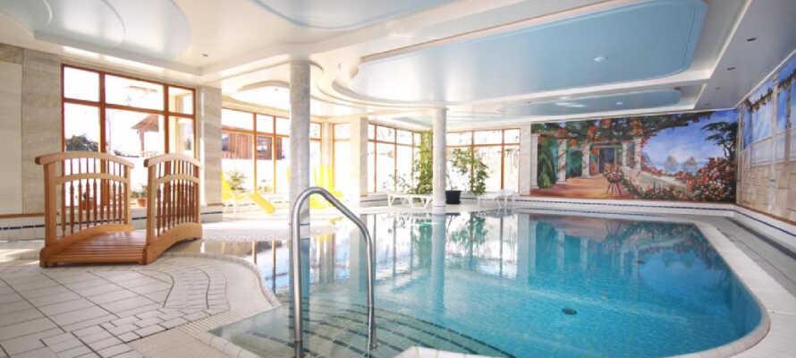 Während Ihres Aufenthaltes können Sie den Pool und andere Wellness Einrichtungen nutzen des Hotels.