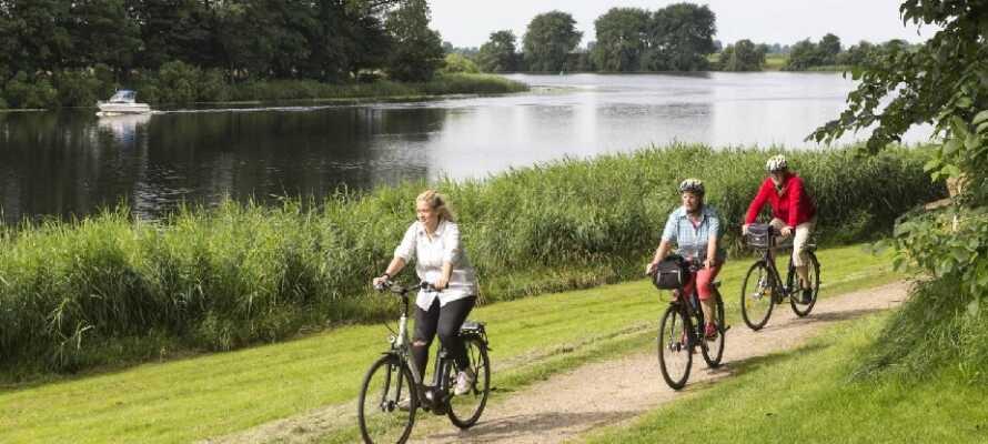 Die Bereiche rund um die Eider sind voll von Wegen und Pfaden, die zum gemütlichen Radfahren einladen.