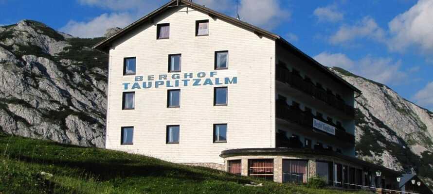 Hotel Berghof Tauplitzalm ligger mitt i Alperna, endast 100 km öster om Salzburg.