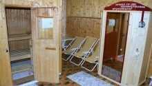 Slap af i det lille hyggelige saunaområde