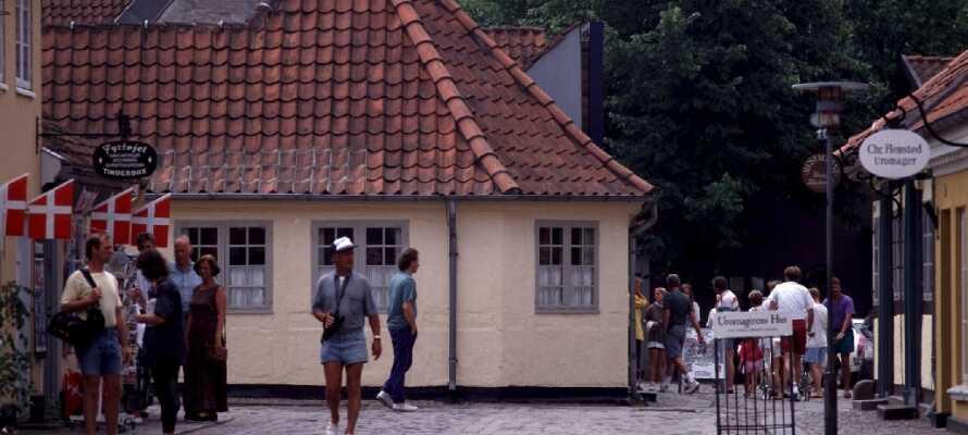 Här bor ni en kort bilfärd från den trevliga staden Odense som har mycket att erbjuda för alla åldrar.