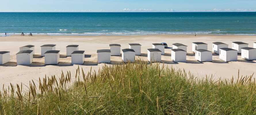 Hotellet ligger endast 3km från Saltum strand, där ni kan promenera i vattenbrynet och njuta av den friska havsluften.