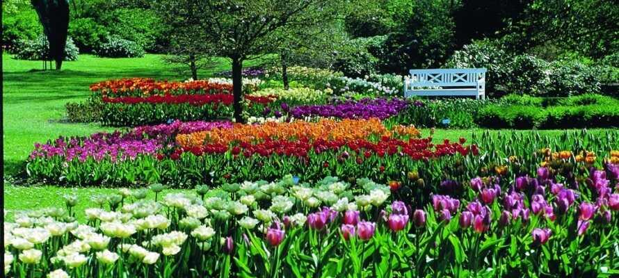 Der Schlosspark von Gavnø hat einen der schönsten Schlossgärten des Landes.