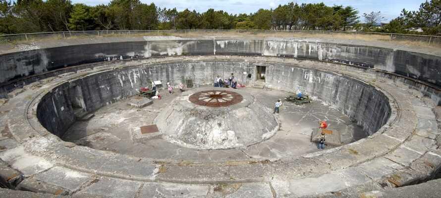 Besøg Nordeuropas største befæstnings-anlæg fra 2. Verdenskrig.