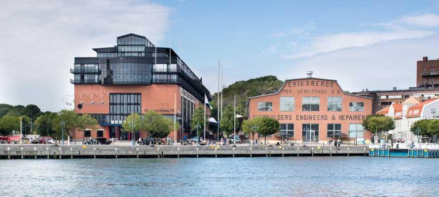 Hotellet ligger flott plassert nede ved den gamle havna i Eriksberg, en moderne bydel i Gøteborg.