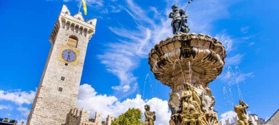 Bis Trento sind es 25 km. Hier werden Ihnen interessante Kulturerlebnisse und Shoppingmöglichkeiten geboten.