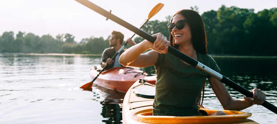 Nyt den vakre naturen rundt Gudenåen, med gåturer, sykkelturer eller kano- og kajakkturer.