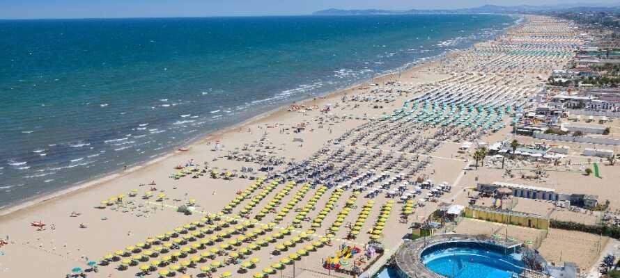 Tillbringa sommaren vid Adriatiska havet och besök den populära semesterorten Rimini.