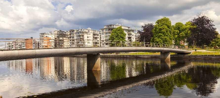 Halmstad har en dejlig beliggenhed på den svenske vestkyst mellem Helsingborg og Göteborg.