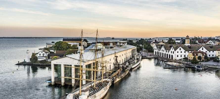 Dette flotte hotellet fra det forrige århundreskiftet ligger midt i den flotte gamle skærgårdsbyen, Karlskrona.