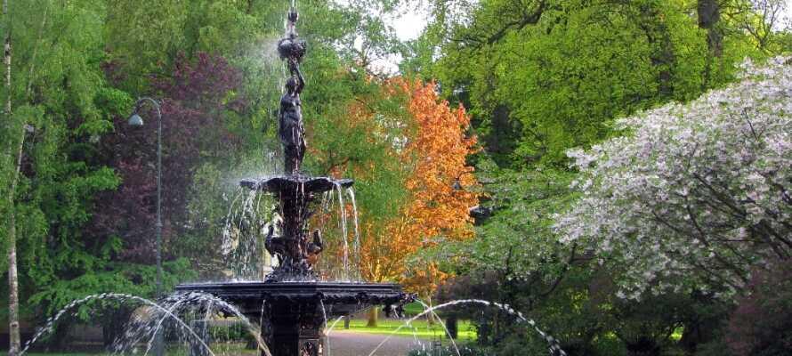 Malmø har flere parker, hvor man kan koble av ved å gå en tur.