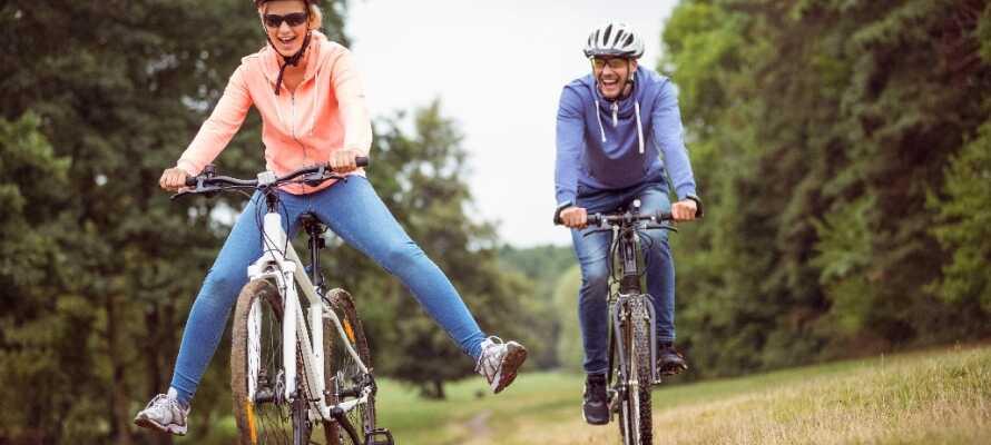 Når I ikke skal slappe af på hotellet, så prøv at leje nogle cykler på hotellet.
