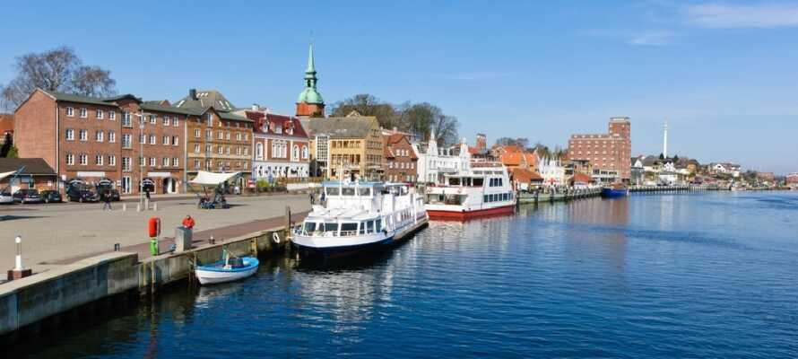 Besøk den lille idyllisk havnebyen Kappeln, som ligger ca 30 km fra hotellet.