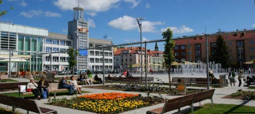 Sie wohnen unweit von Koszalin, die Stadt, die mit den vielen Parks zum Schlendern und Verweilen einlädt.