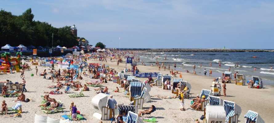 In Kolobrzeg können Sie am grossen Strand spazieren gehen oder in der Stadt die beeindruckende  Kathedrale besuchen.