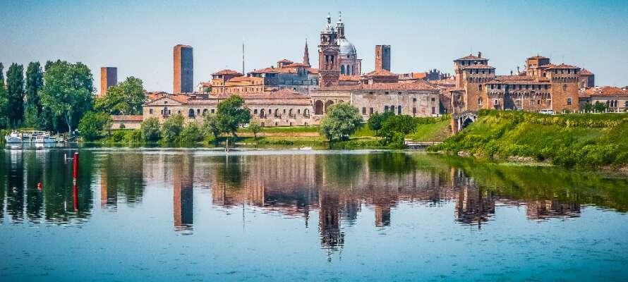 Besök den trevliga medeltidsstaden Mantova och upplev det historiska centrumet och det spännande Palazzo Te Museum.