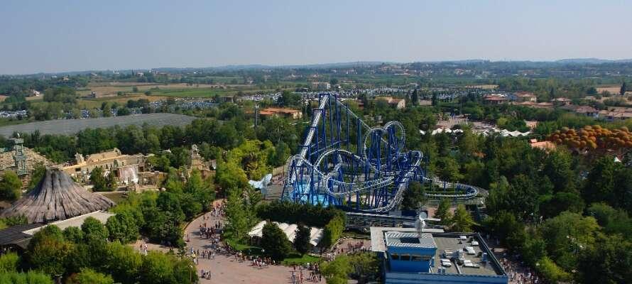 Italiens största temapark, Gardaland, kan definitivt underhålla er en hel dag!