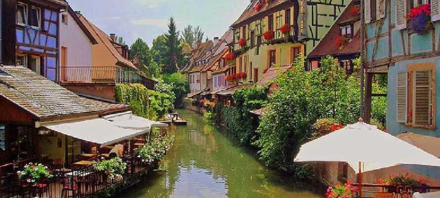 Colmar är en av Frankrikes vackraste städer, och kallas ofta lilla Venedig på grund av de små kanalerna.