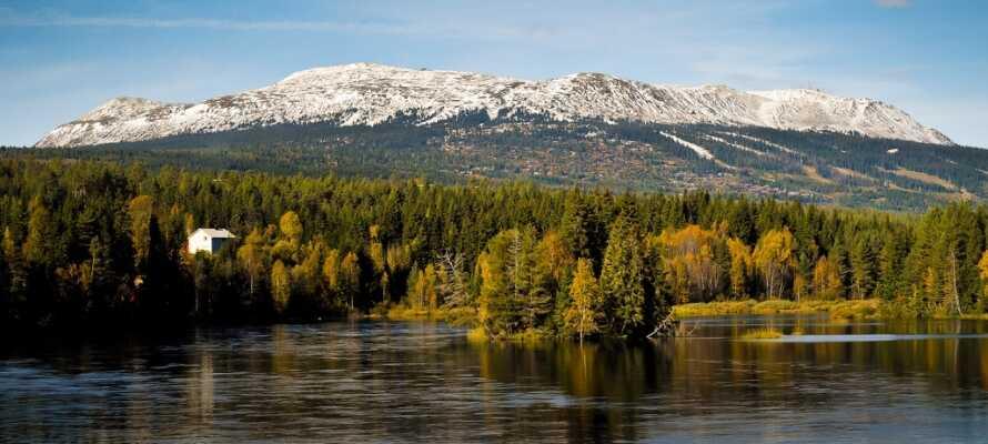 Tag på udflugt til Norge! Trysil ligger lige på den svensk-norske grænse.