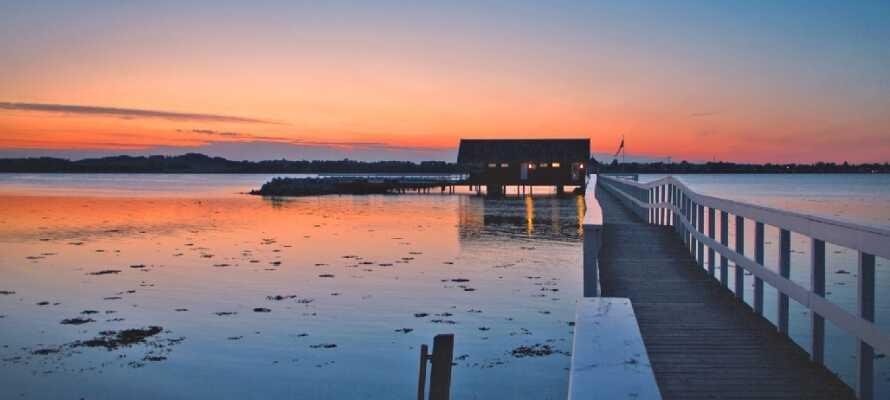 I området runt Holbæk Fjord inbjuds ni till att ta promenader i de vackra omgivningarna.