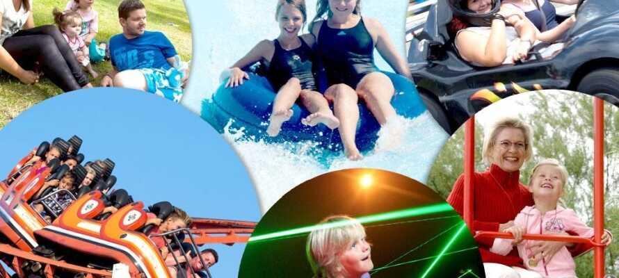 Om ni önskar en dag för barnen, då är Sommerland Själland platsen ni söker, med sina 60 roliga aktiviteter.