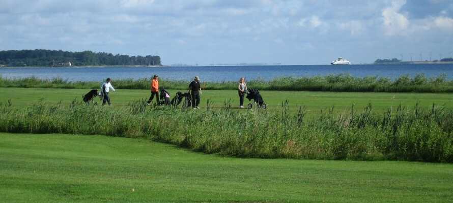 Golfen in der Nähe des Hotel Strandparken ist kein Problem. Das Hotel hat Greenfees mit nicht weniger als 11 Clubs in der Nähe.