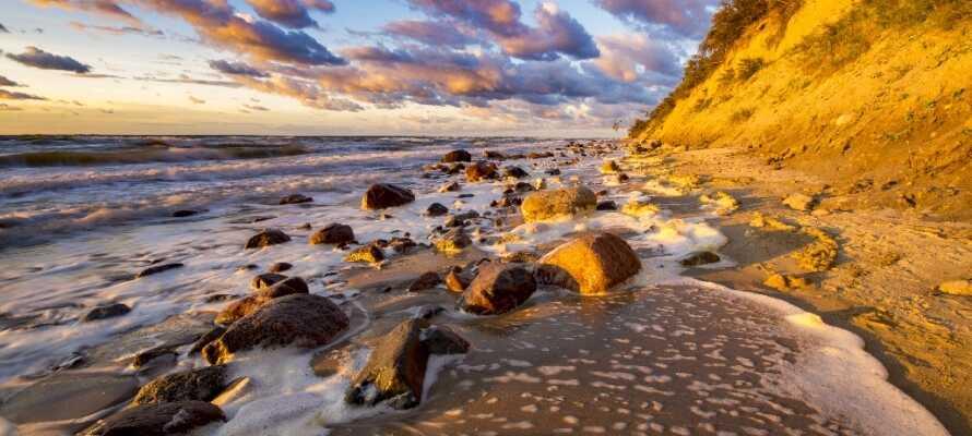 Hotellet ligger på øya Wolin, som byr på vakre naturopplevelser ved Østersjøen.