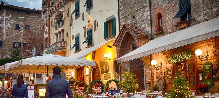Den italienske stemning er helt speciel, og skal opleves i Montecatini Termes gader.