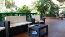 Den hyggelige terrasse på Albergo La Querceta