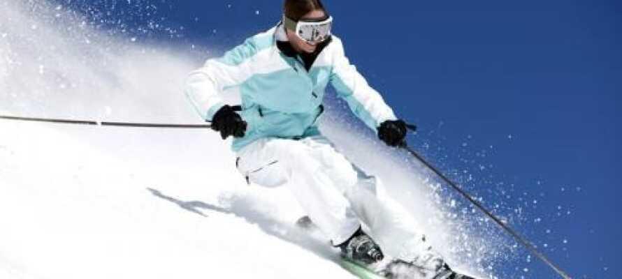 In Gaimberg gibt es viele Herausforderungen auf den Skipisten. Ca. 30 Min. vom Hotel entfernt.