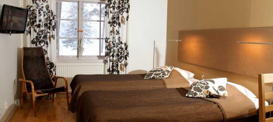 De friske og innbydende dobbeltrommene er moderne innredet og er en god base for miniferien deres.