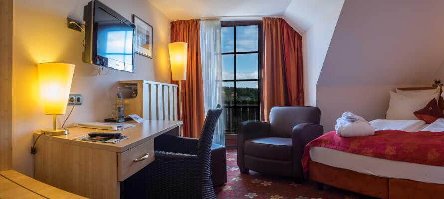 I bor på nyligt renoverede værelser, som er indrettet i en typisk Harz-stil.