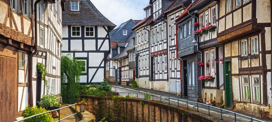 Oplev UNESCO-listede Goslar som er kendt for sin middelalderlige gamle bydel og mange bindingsværkshuse.