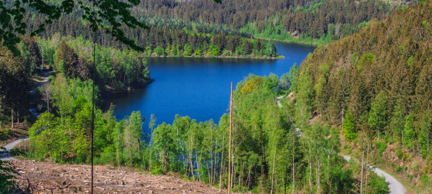 Från hotellet har ni närhet till det vackra området kring Kranichsee-dammarna som bjuder på fina vandringsturer.