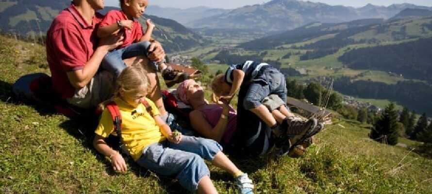 Här bor ni i Tyrolen och mitt i det förtrollande alplandskapet.