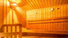 Die hoteleigene Sauna.