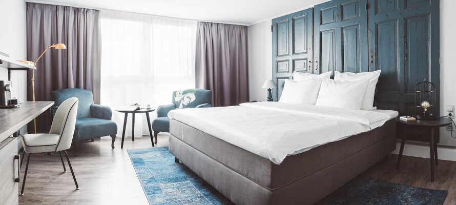 Fire-stjernet hotel med nyrenoverede værelse med aircondition.