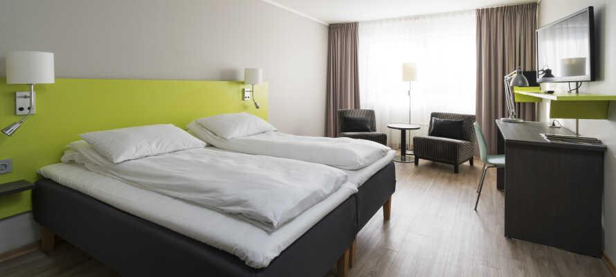 Rummen är ljust inredda och har en trevlig atmosfär