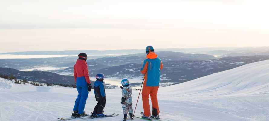 Løypene ligger rett utenfor hotellets dør og her har hele familien mulighet til å nyte vinteren.