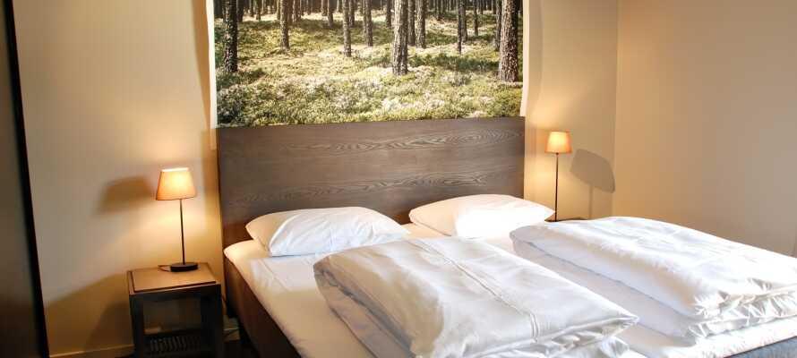 Die Zimmer sind skandinavisch modern und elegant eingerichtet.